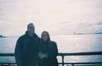 Matthew and Heather in front of the Statue of Liberty