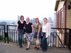Lyndsay, Heather, Erin, and Jen overlooking Pittsburgh