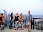Lyndsay, Heather, Erin, and Matthew overlooking Pittsburgh
