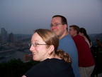 Heather and Matthew overlooking Pittsburgh